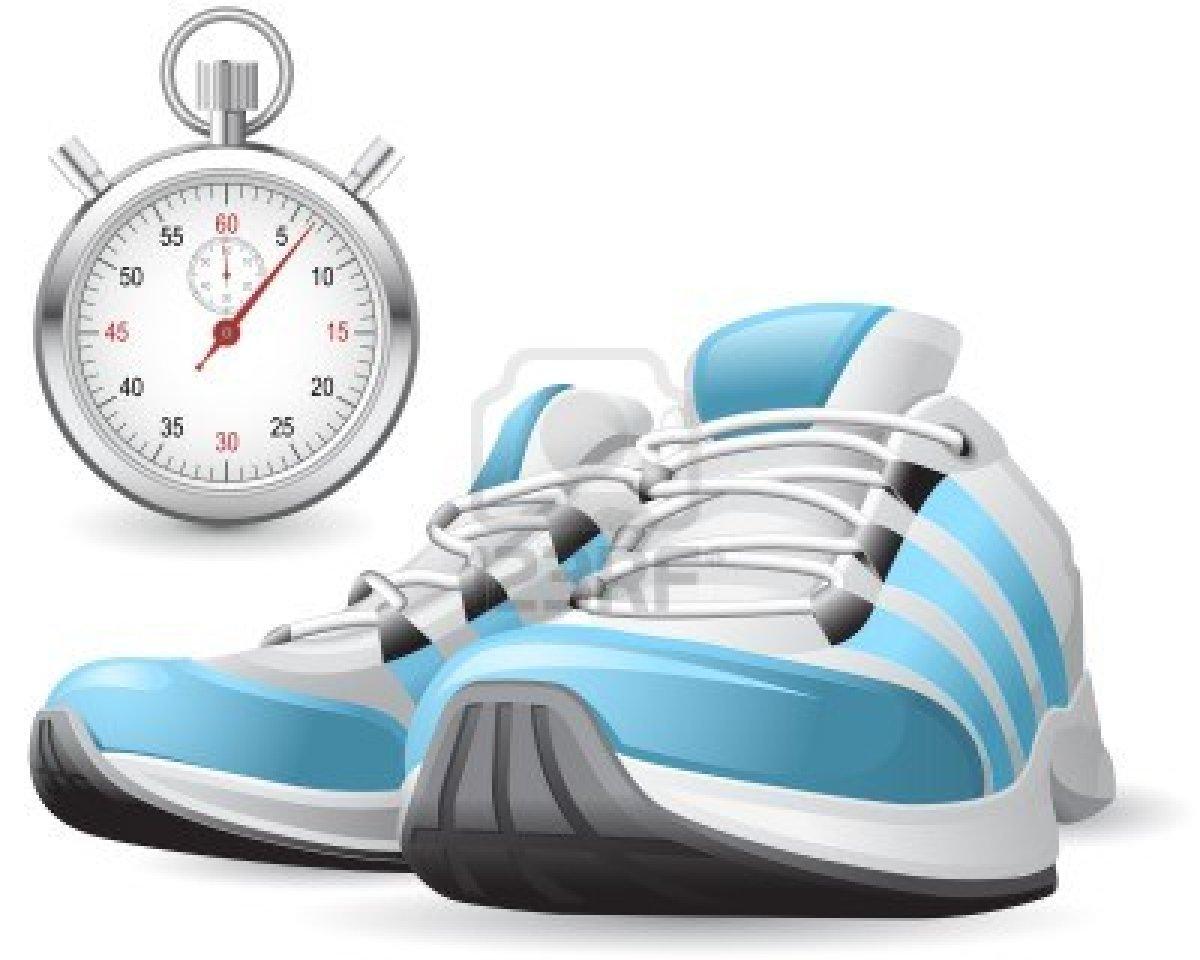 chaussures-de-course-et-le-chronometre