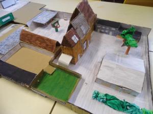 Les élèves de 5ème A et 5ème B ont eu pour projet de technologie cette année la réalisation de la maquette du collège. Ci-dessus, le travail réalisé par les 5A...